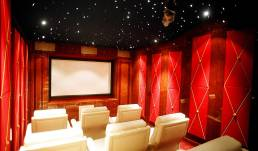 luxury home theatre by Pimas Gale